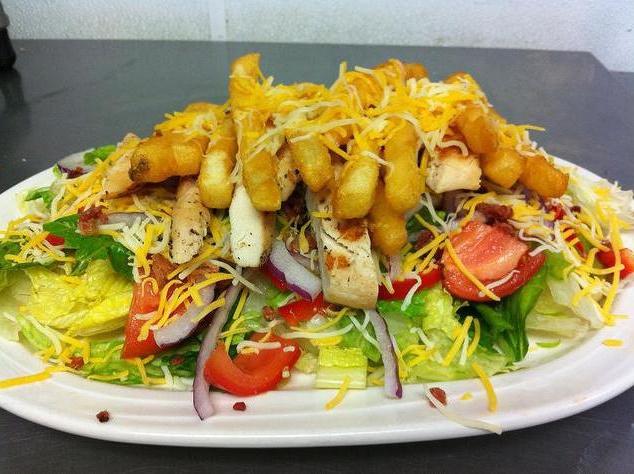 Салаты с картошкой фри рецепт фото