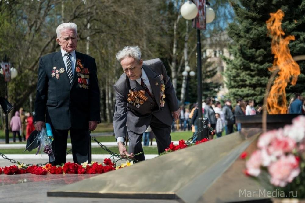 день победы 9 мая Йошкар-Ола марий эл вечный огонь ветераны
