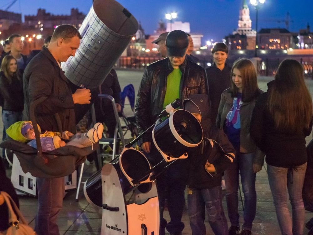 Йошкар-Ола Марий Эл телескоп наблюдения 12 апреля астрономия