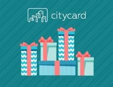 Первый розыгрыш призов среди пользователей CityCard.ru