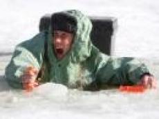 Лёд в середине Волги не превышает 2 сантиметров