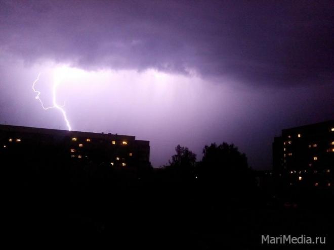 В Марий Эл во второй половине дня ожидаются кратковременные дожди, местами с грозами
