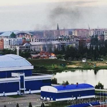 В соцсетях появилась информация о том, что горит кафе на берегу Кокшаги