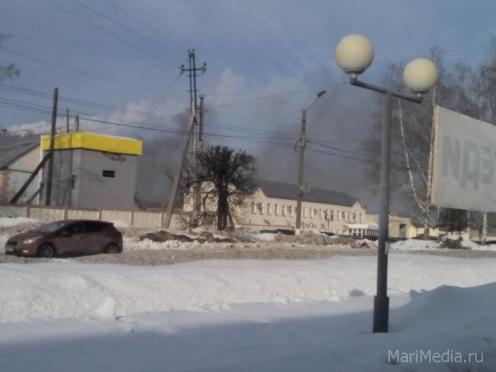 В Йошкар-Оле горит мясокомбинат