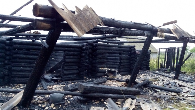 В Медведевском районе неизвестные устроили поджог в частном домовладении
