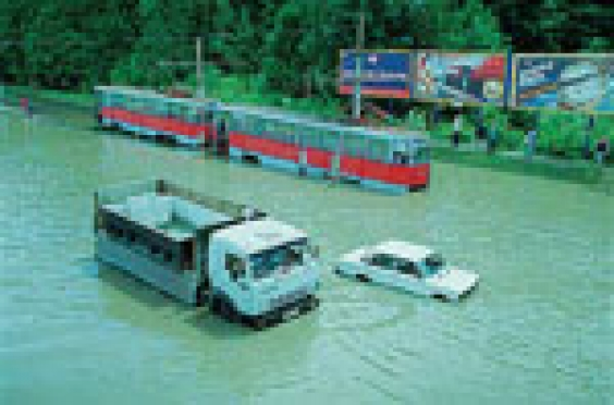 Ливневая канализация столицы Марий Эл справилась со вчерашним потопом в течение 2-3 часов