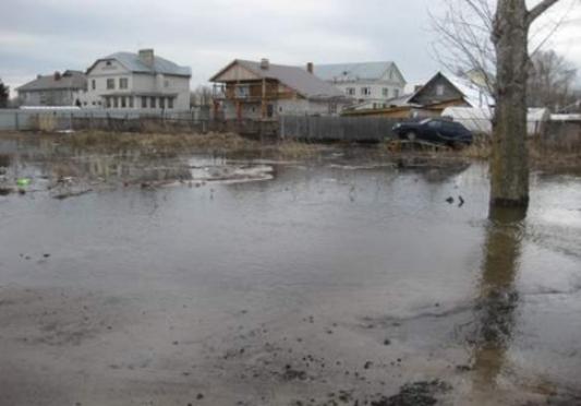 В Йошкар-Оле к частному сектору подступила вода