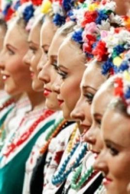Международный фестиваль-конкурс русской культуры «Корнями в России» постер