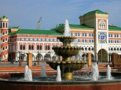 В Йошкар-Оле начались пробные пуски фонтанов