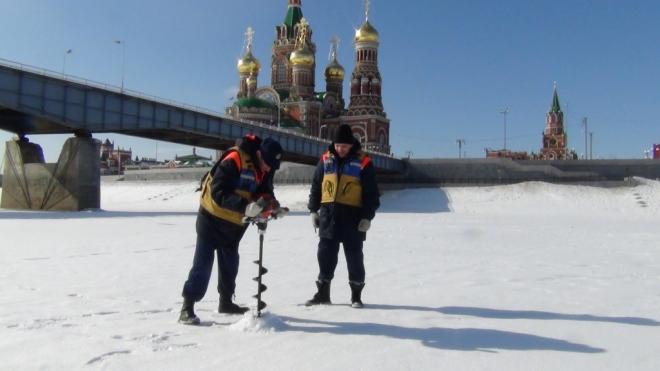 В Йошкар-Оле провели замеры льда на Малой Кокшаге