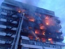 Пожарные машины окружили злополучную йошкар-олинскую высотку