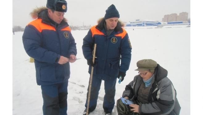 Сотрудники ГИМС вышли на лёд в целях профилактики