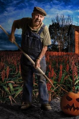 Колхозный хэллоуин постер