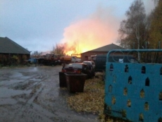 В Козьмодемьянске сегодня сгорел неэксплуатируемый склад