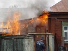В Йошкар-Оле произошёл серьёзный пожар в частном секторе