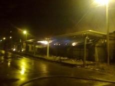 Минувшей ночью загорелся цех комбината автофургонов в Красногорском