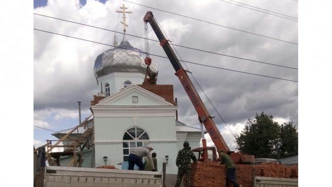 В Волжском районе начато строительство колокольни