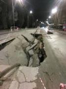 В Йошкар-Оле обвалился участок дороги на улице Лебедева