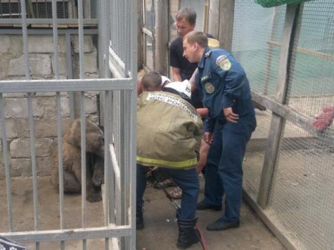 Пожарные из Медведева (Марий Эл) спасли маленького медведя