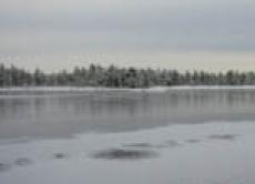 Декабрьское ледовое покрытие реки М.Кокшага в районе Йошкар-Олы отвечает апрельским стандартам