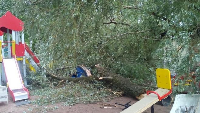 Социально-реабилитационный центр в Волжске восстанавливают после урагана