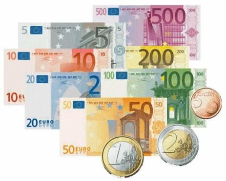 Евро впервые с декабря опустился ниже 64 рублей