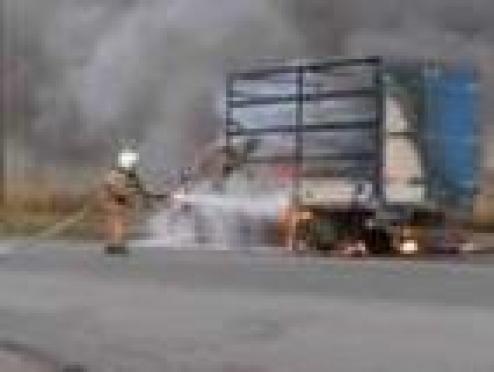 В столице Марий Эл сгорел грузовой автомобиль