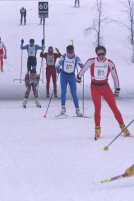Чемпионат и первенство по спортивному ориентированию на лыжах постер