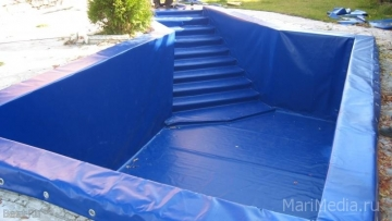 Изготовление бассейнов :  углубленные и каркасные.
