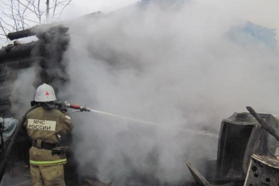 В Йошкар-Оле выгорел двухквартирный одноэтажный дом