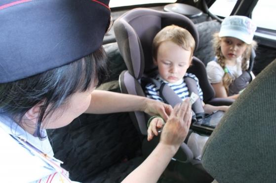 В Йошкар-Оле проходят массовые проверки машин с детьми