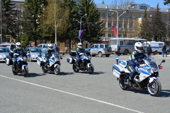 На дорогах Йошкар-Олы можно встретить полицейских на мотоциклах