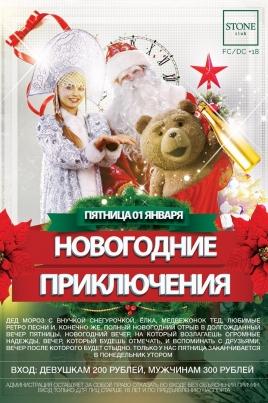 Новогодние приключения постер