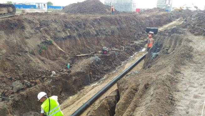В деревне Савино строят новый водопровод