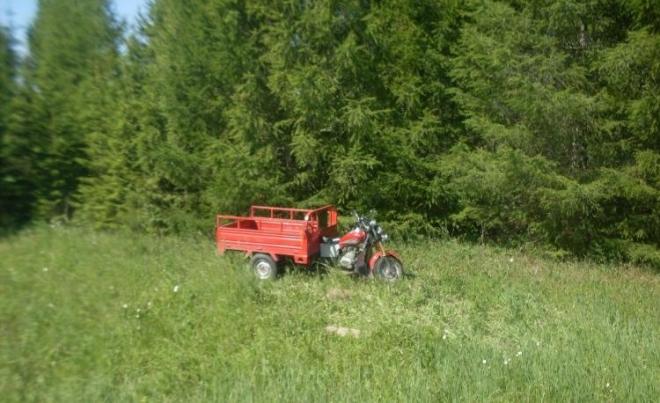 74-летний мотоциклист перевернулся в кювет