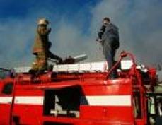 Пожар на складе торфопредприятия в Марий Эл