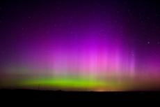 Сегодня ночью можно вновь увидеть северное сияние