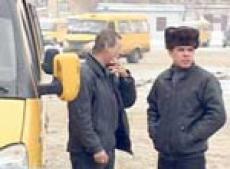 Йошкар-олинские маршрутчики перекрыли движение транспорта из-за неожиданных поборов