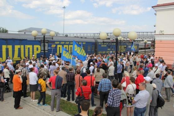 Встреча Специального поезда ЛДПР собрала в Марий Эл полторы тысячи жителей