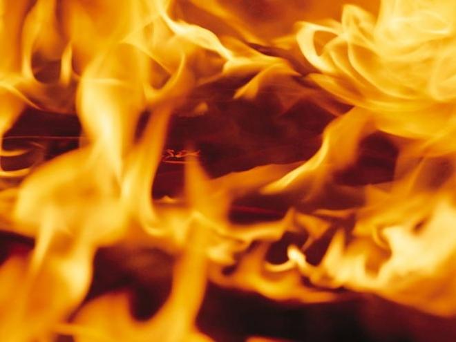 В Йошкар-Оле сгорела «Лада Гранта»