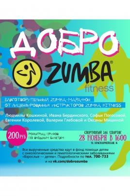 Вторая благотворительная ZUMBA тренировка постер