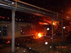 Площадь пожара на комбинате автофургонов составила около 1000 квадратных метров