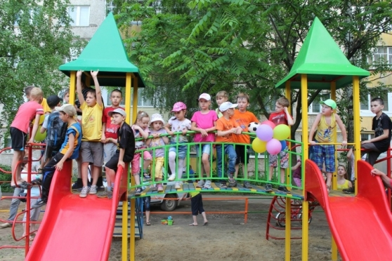 В Йошкар-Оле продолжают открывать детские игровые площадки