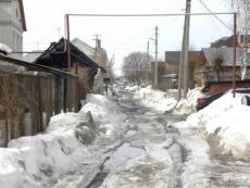 В Йошкар-Оле из-за весеннего паводка подтоплены дома на семи улицах