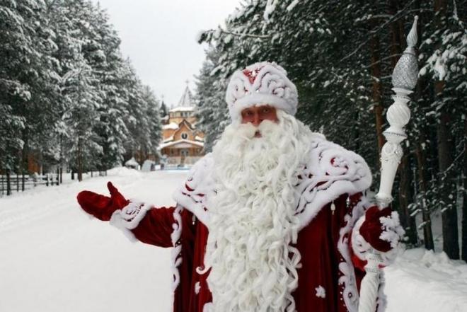 Дед Мороз принимает поздравления с Днем рождения