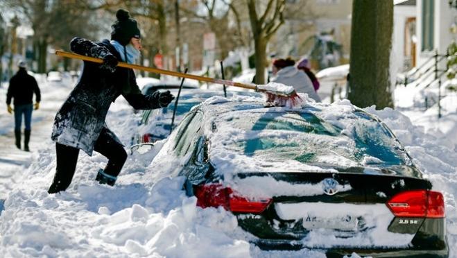 Утром 5 февраля Йошкар-Олу замело снегом