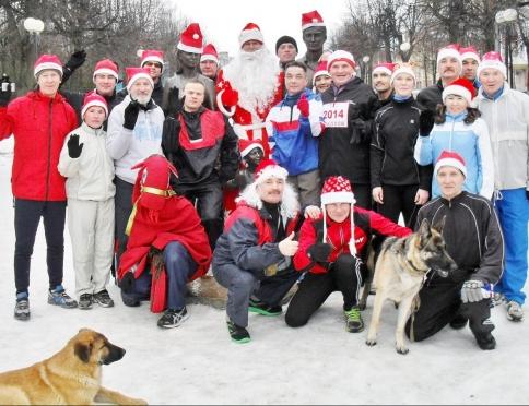 Забег Дедов Морозов в Йошкар-Оле стартует в полдень