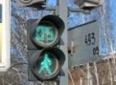 В центре Йошкар-Олы начались работы по монтажу светодиодного светофора с обратным отсчетом.