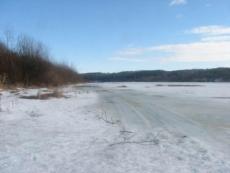 Толщина льда на Малой Кокшаге в Йошкар-Оле составляет около 7 сантиметров