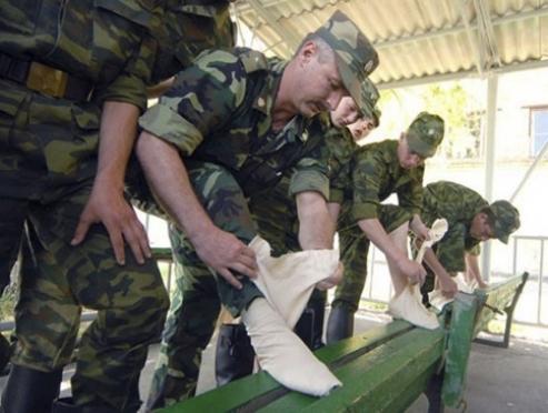 Армейские портянки уходят в историю